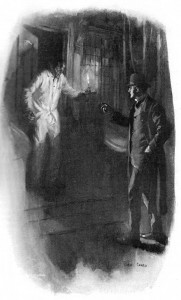 And when the door opened it was a figure of woe that stood within and held an unsteady candle between our faces. Illustration by Cyrus Cuneo