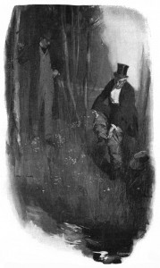 The ragged trousers stripped from an evening pair, bloodstains and Newgate fringe removed at the water's edge. Illustration by Cyrus Cuneo