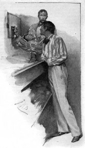"""That,"" said he, ""is our door to fortune."" Illustration by John H. Bacon"