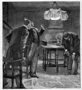 Bowed to us until his bullet head presented an unbroken disc of short red hair. Illustration by John H. Bacon