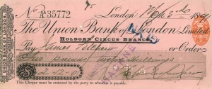Crossed Cheque