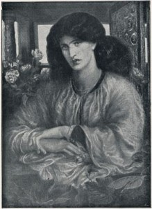 Hollyer's photo of Rosetti's La Donna Della Finestra