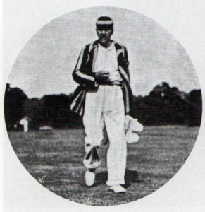 Hornung playing cricket