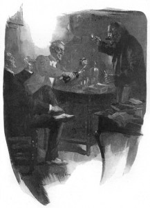 I now discovered that he also kept a particularly mellow Scotch whisky, an excellent cigar, and a fund of anecdote of which a mordant wit was the worthy bursar Illustration by Cyrus Cuneo