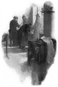 I looked round.  There was no Raffles to respond. Illustration by Cyrus Cuneo
