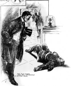 The two guards were still unconscious of anything wrong Illustration by S. Armstrong