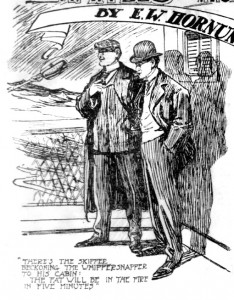 There's the skipper beckoning the whippersnapper to his cabin: the fat will be in the fire in five minutes Illustration by S. Armstrong