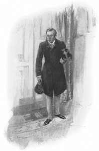 """""""Good-evening, gentlemen,"""" said he, at home and smiling. Illustration by F. C. Yohn"""