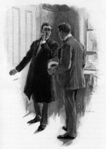 """I have persuaded my patient to see you."" he whispered. Illustration by F. C. Yohn"