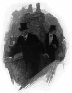 """""""Now follow me, and look out!"""" Illustration by F. C. Yohn"""
