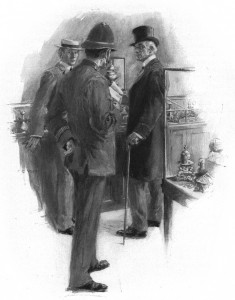 """Going to run me in, officer?"" said he Illustration by F. C. Yohn"