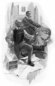 He bid the cup of gold a ridiculous farewell. Illustration by F. C. Yohn