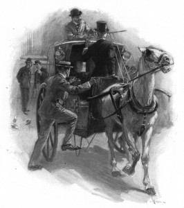In we jumped. Illustration by F. C. Yohn