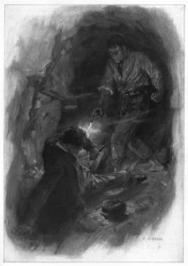 Brought him down with a bullet. Illustration by F. C. Yohn