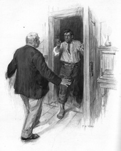 He had let me in before he knew who was finished. Illustration by F. C. Yohn