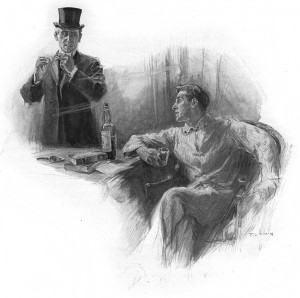 """May I mix you one?"" said I. Illustration by F. C. Yohn"