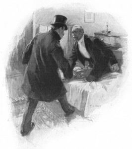 """You'd better not shoot,"" he said. Illustration by F. C. Yohn"
