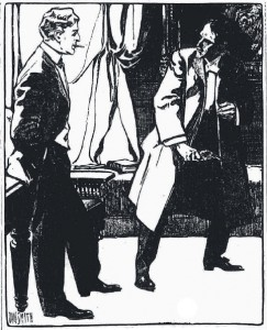 I whipped the pistol from my overcoat pocket Illustration by Dan Smith
